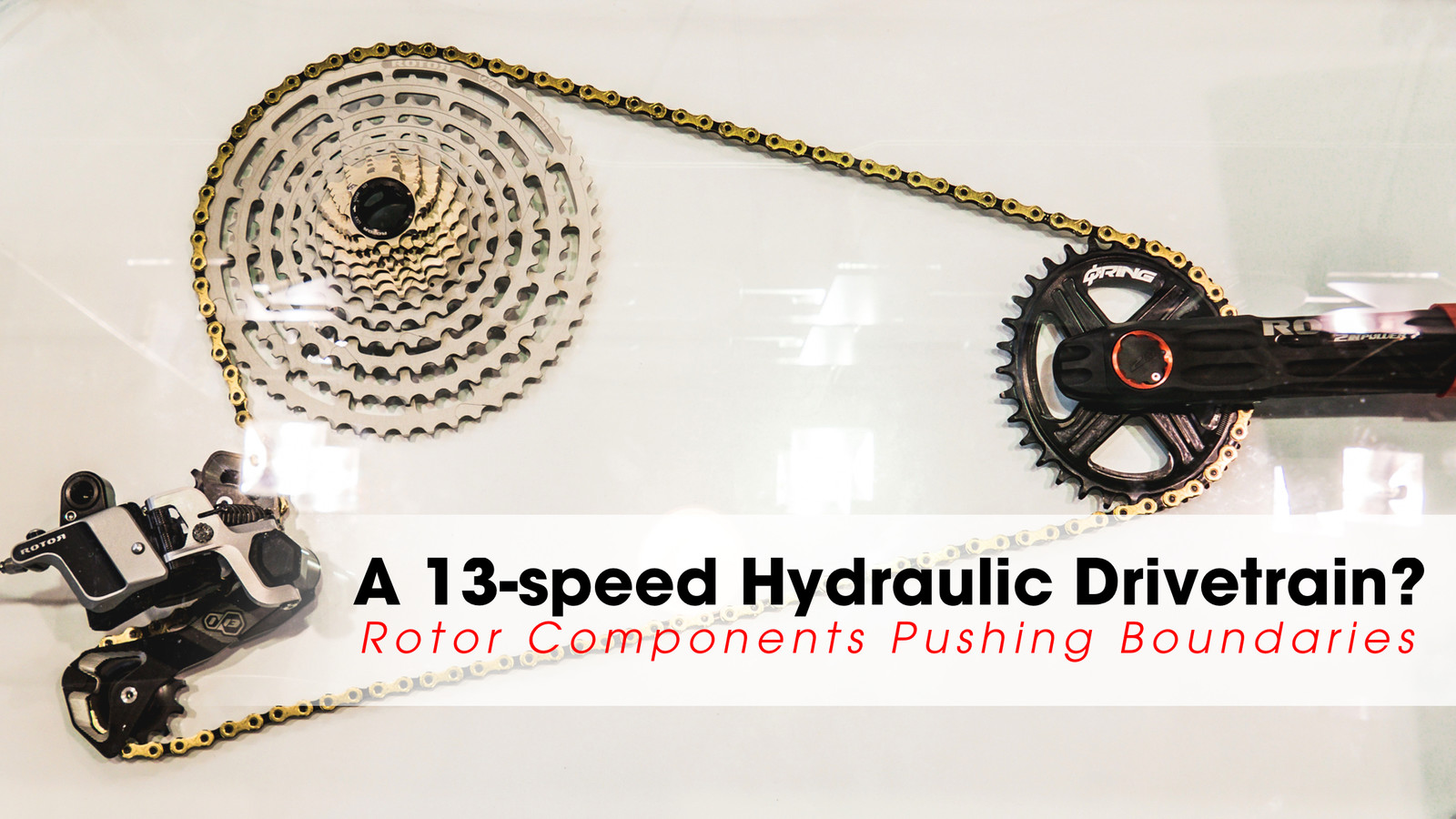 A 13-Speed Hydraulic Drivetrain? Rotor Components at Eurobike 2018