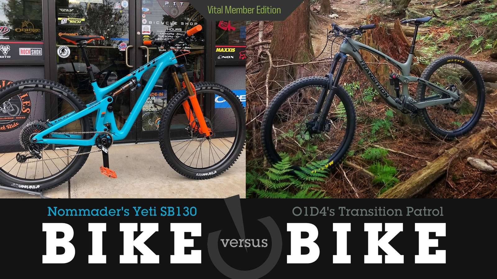 Bike vs. Bike - Transition Patrol Carbon or Yeti SB130 Turq?