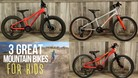 3 Great Mountain Bikes for Kids