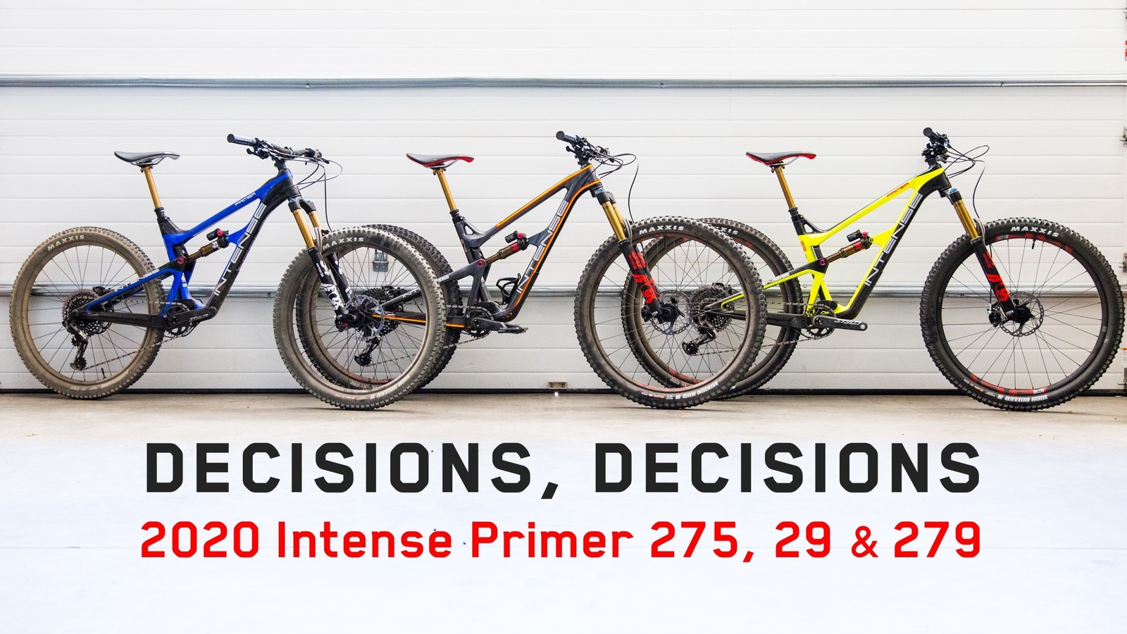 Intense Launches the 2020 Primer in Three Wheel Size Options