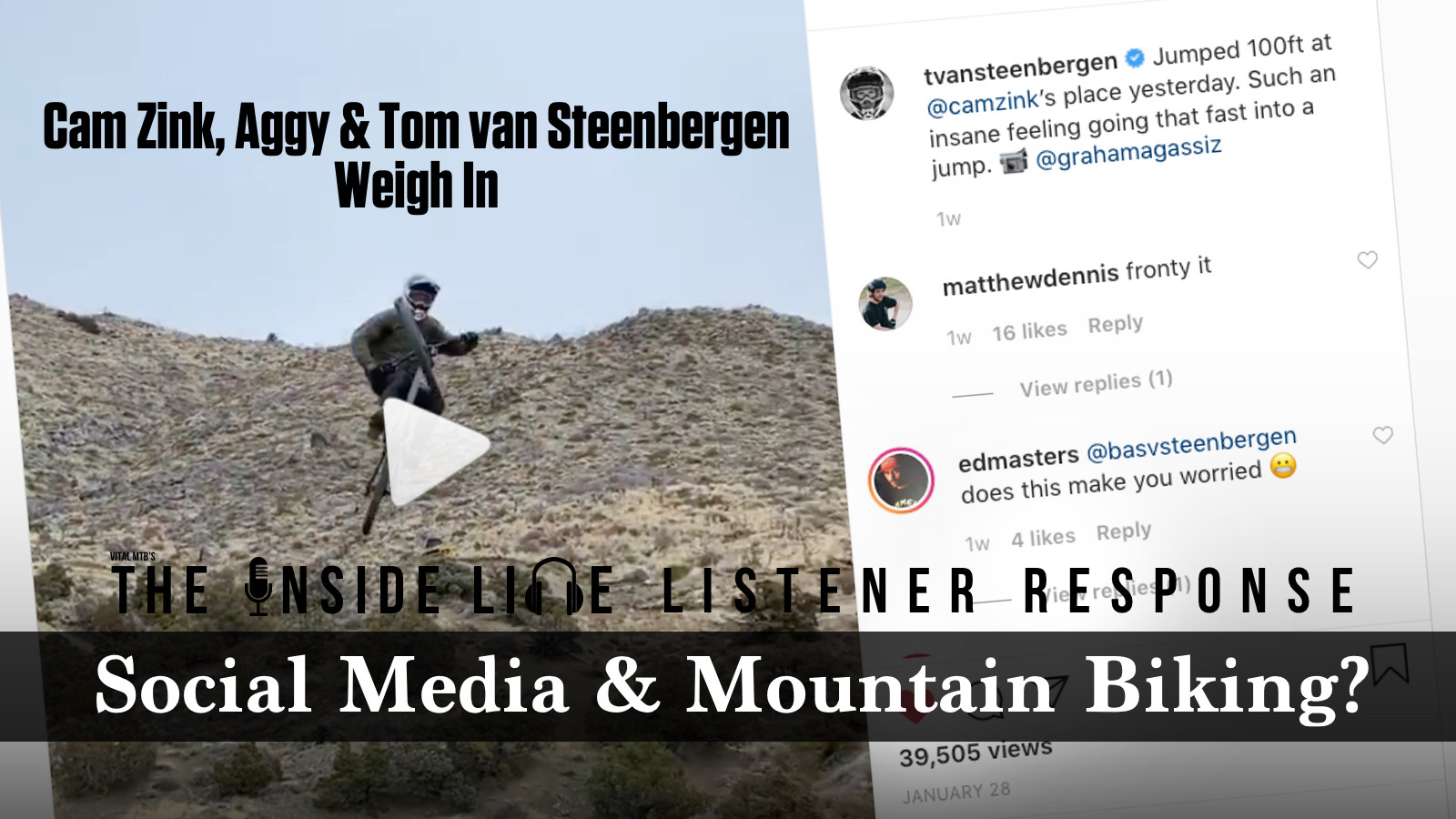 Zink, Aggy, TVS - Social Media and MTB - The Inside Line Listener Response #2