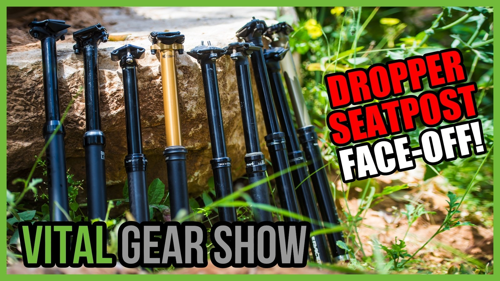 Dropper Seatpost Shootout, Pedals, Shoes, and More - Vital Gear Show