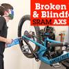 Blindfolded SRAM Eagle AXS Drivetrain Install and New Rocker Paddle