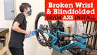 Blindfolded SRAM Eagle AXS Drivetrain Install and New Rocker Paddle