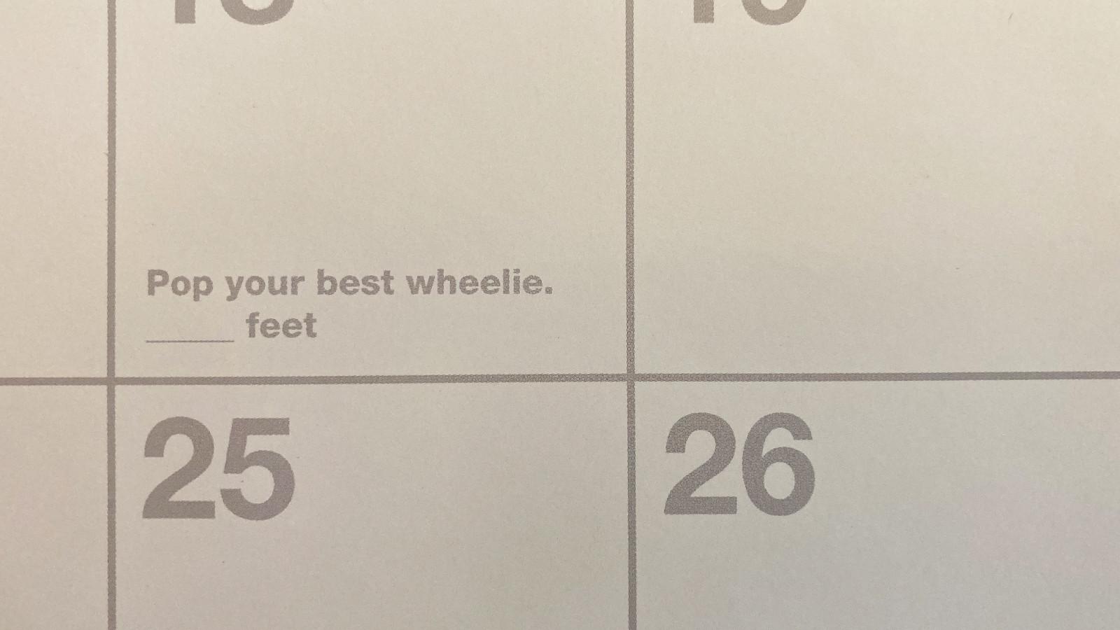 Keep Track of What Matters - Vital MTB 2021 Calendar