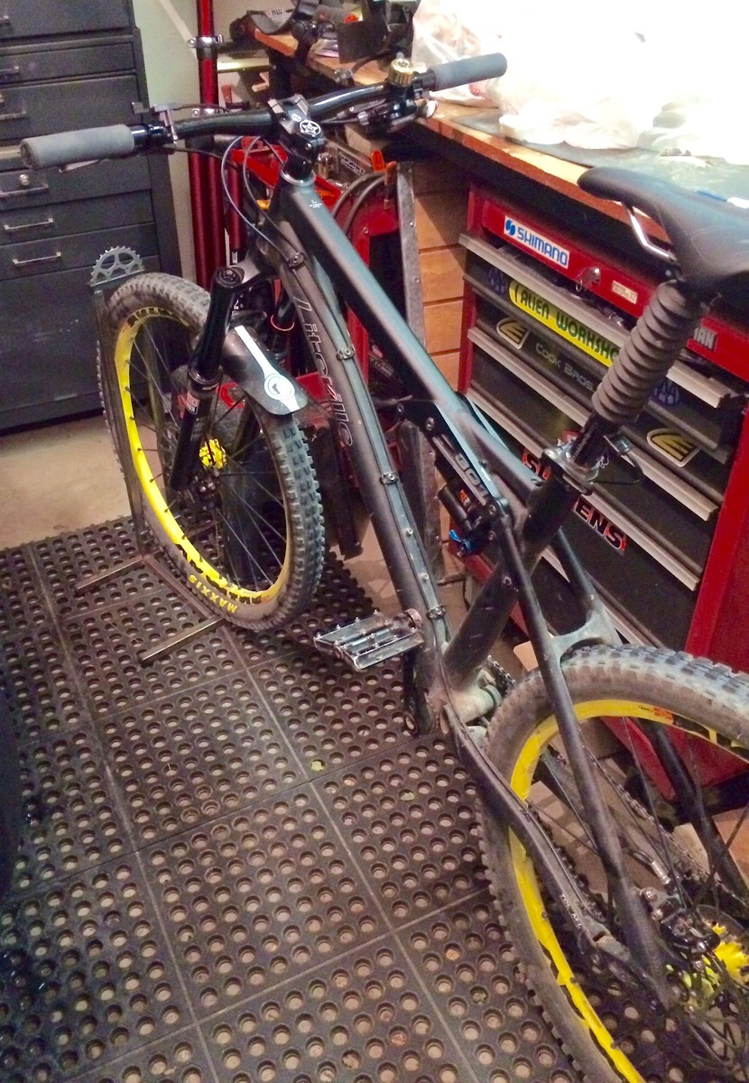 I Welded Up A Little Stand For My Bike To Reside In The Garage Its Small And Easily Moved Also Bring It On Trips So Can Do Post Ride Maintenance