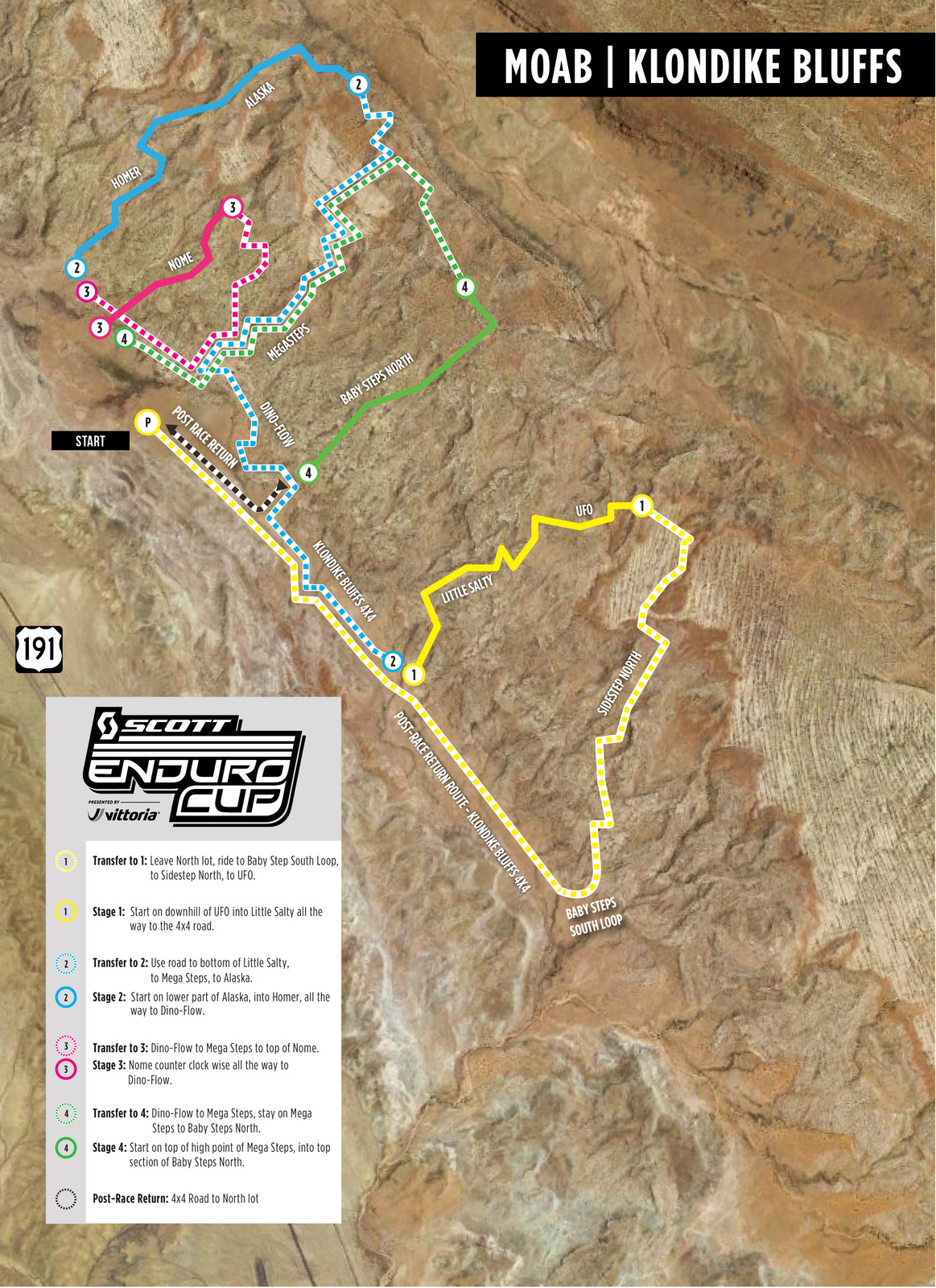 Moab Course Map Released—SCOTT Enduro Cup