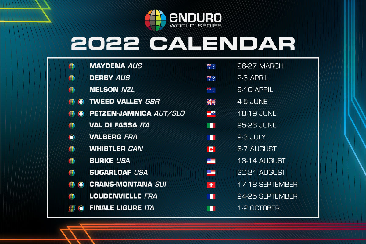 11 Races Crisscrossing the Globe - Enduro World Series 2022 Schedule