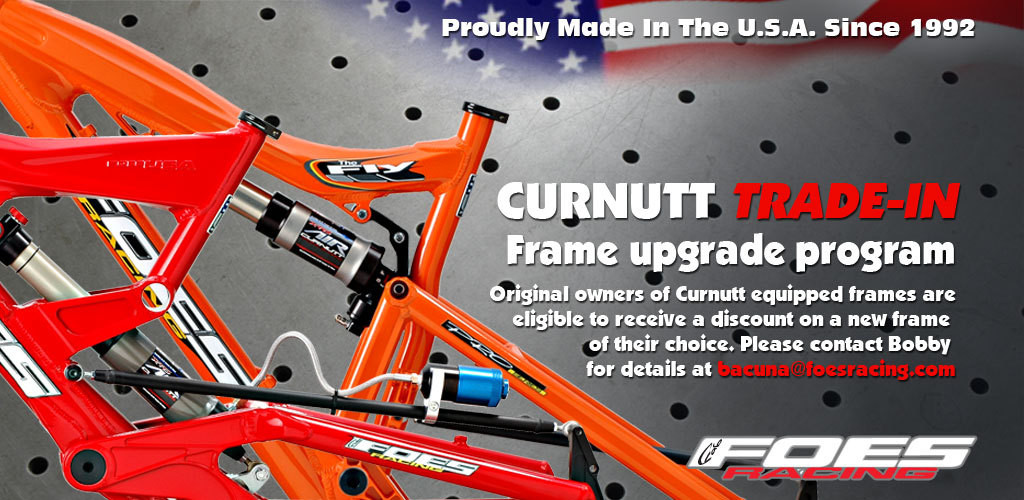 Foes Racing Curnutt Shock Frame Upgrade Program