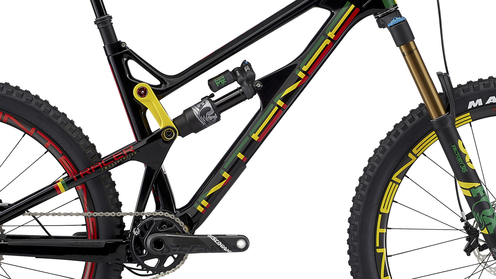 the intense tracer goes rasta mountain bikes press releases