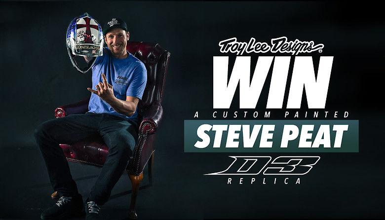 Win a TLD Custom Painted Steve Peat Replica D3 Helmet