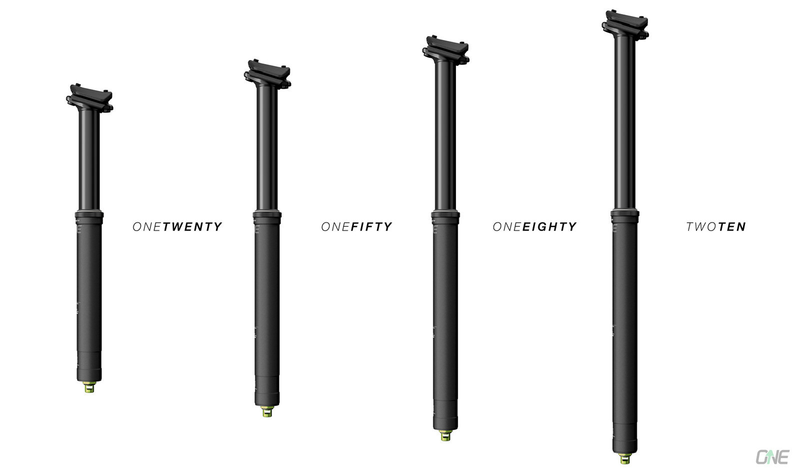 100 to 210mm of Travel - New OneUp Droppers in a Length for Every Rider