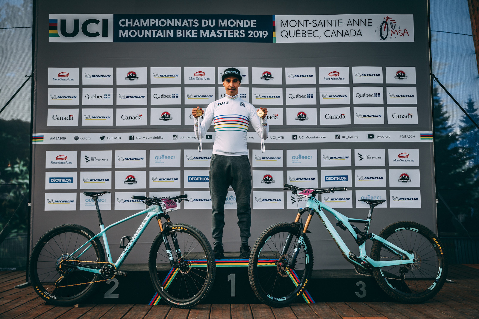 Orbea Factory Rider Tomi Misser Wins the World Title in Both Downhill and Cross Country
