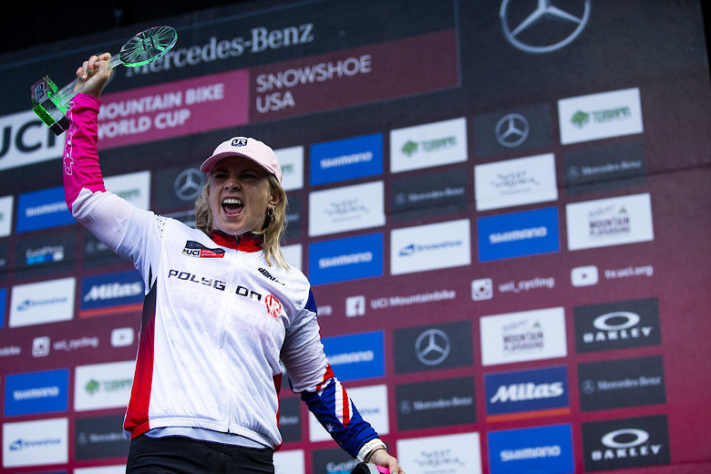 Tracey Hannah Wins the 2019 UCI Elite Women DH Overall