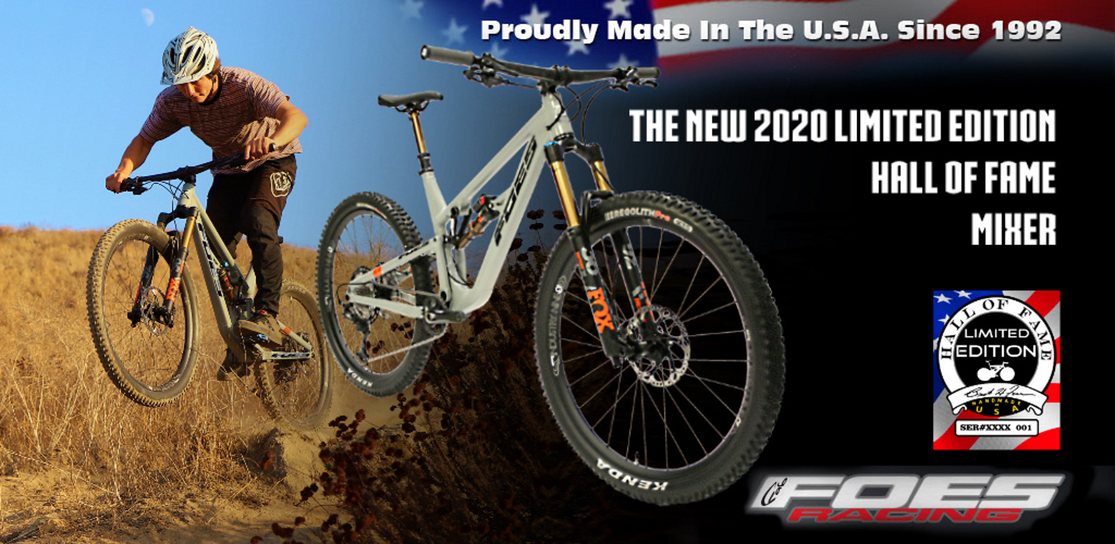 Foes Racing announces the debut of the new 2020 Limited Edition Hall of Fame Mixer