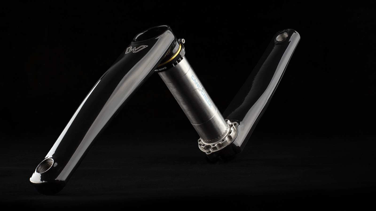 eeWings Titanium Cranks from Cane Creek Now in Raven Black