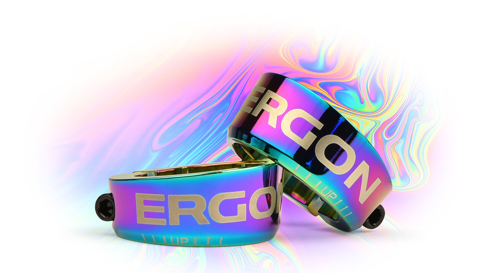 Have ERGON Grips? Want to Spice them Up? Time for Some Oil Slick Grip Clamps