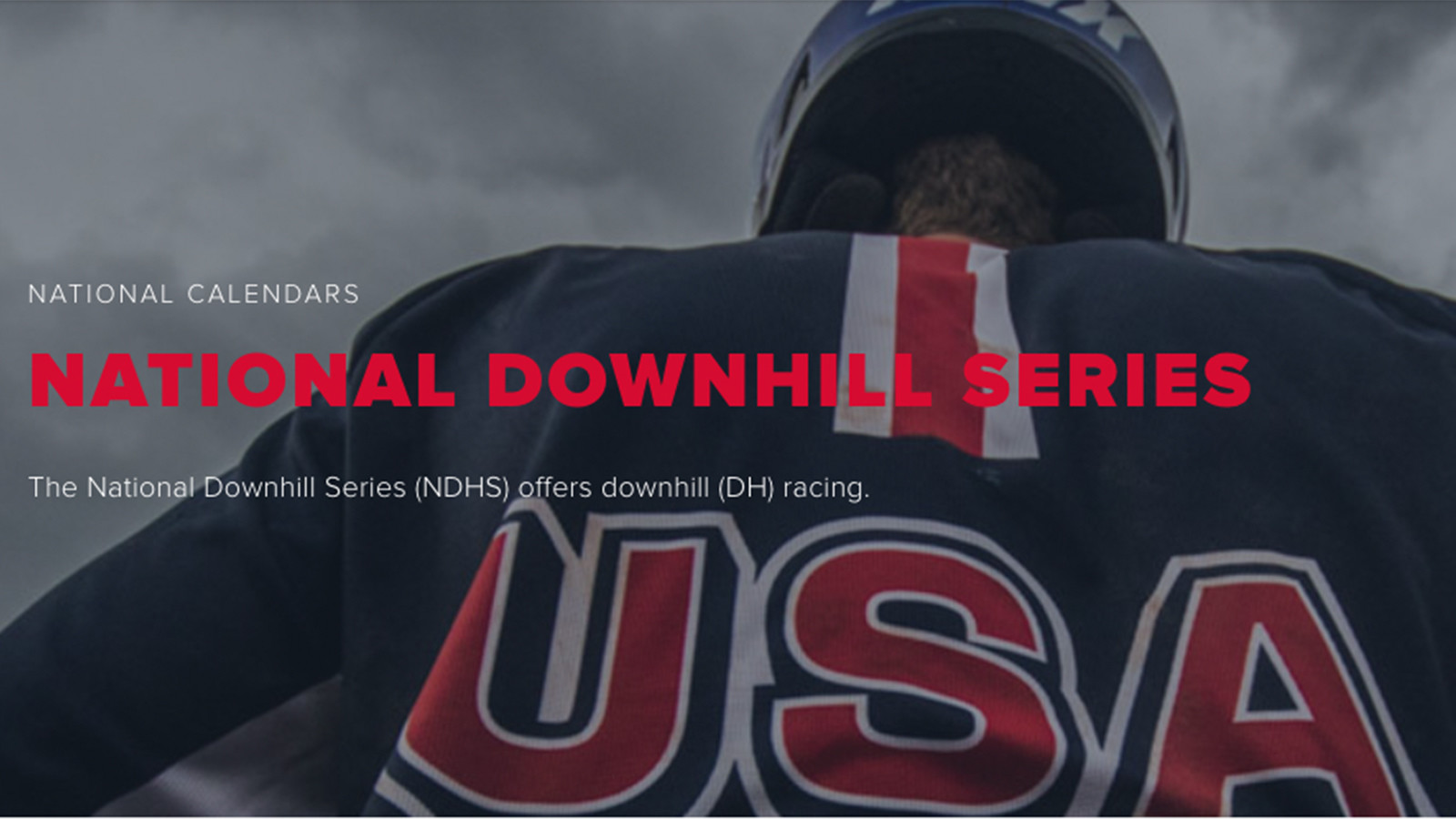 USAC Announces 2021 National Downhill Series with Just Three Races