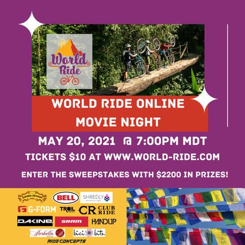 World Ride Online Movie Night to Support Program for Women Mountain Bikers in Botswana