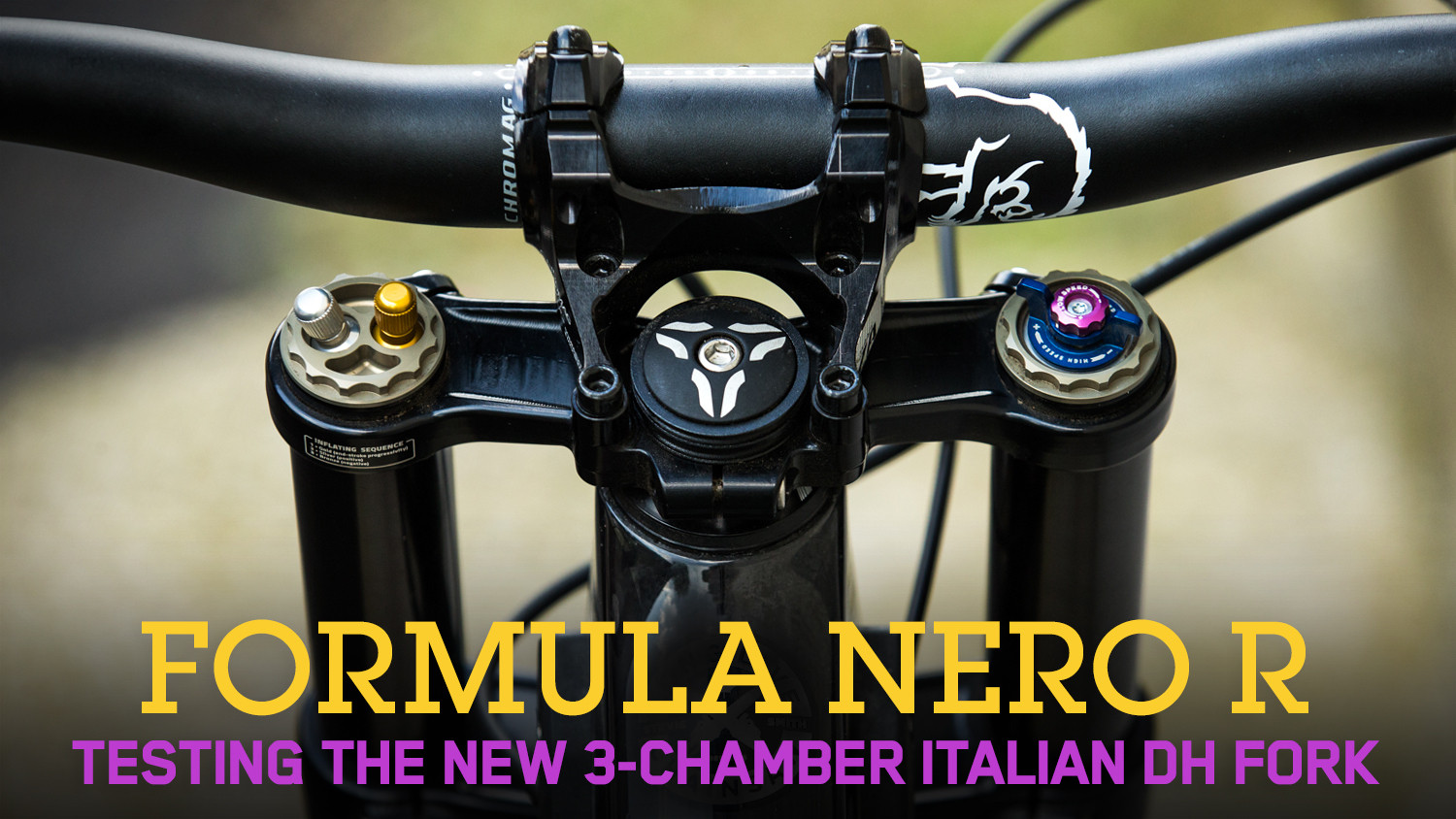 Formula NERO R - Testing the New 3-Chamber Italian DH Fork in Val di Sole