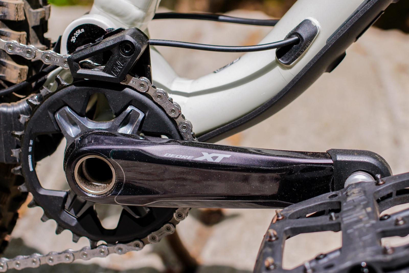 Lightweight crankset for trail bikes