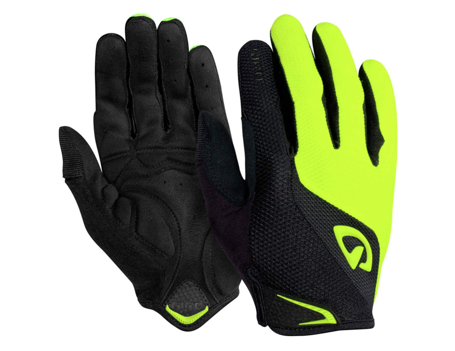 Giro Bravo LF Gloves - Black : Highlight Yellow
