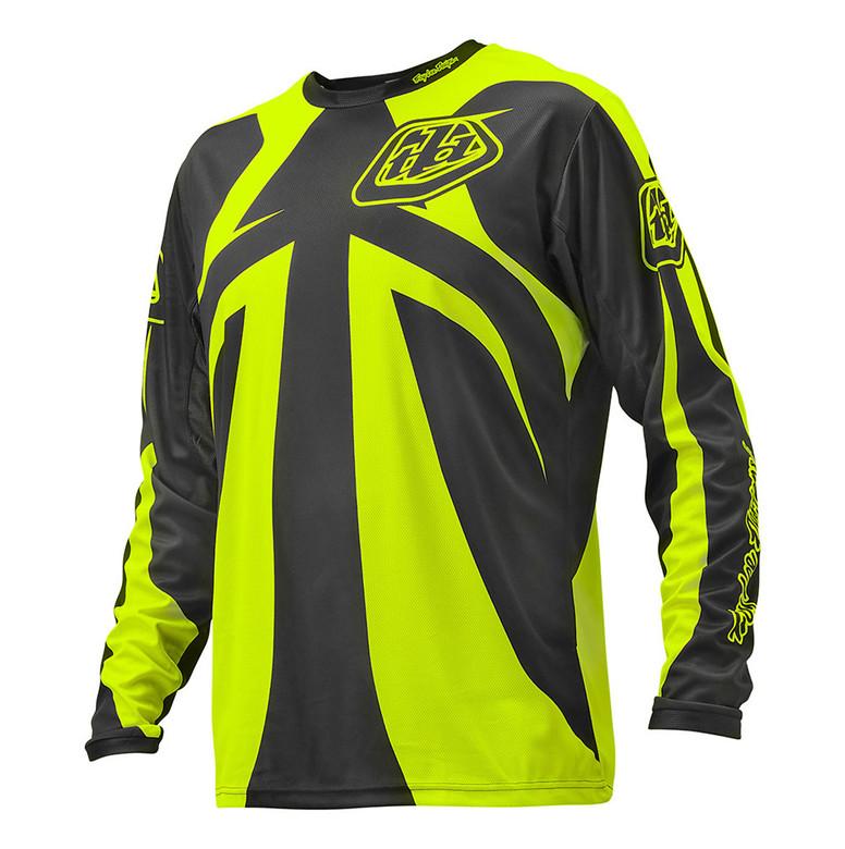 TLD Sprint Jersey - Reflex Dark Gray:Flo Yellow