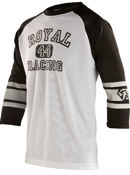 Athletic ride jersey Wht-Blk  f