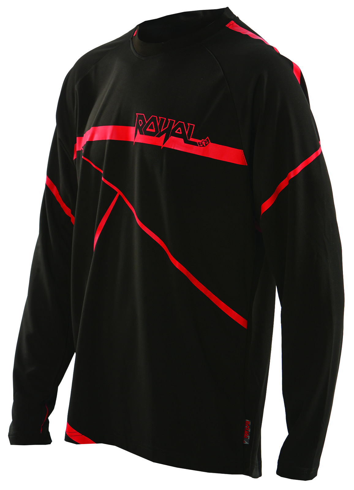 slice jersey black red f