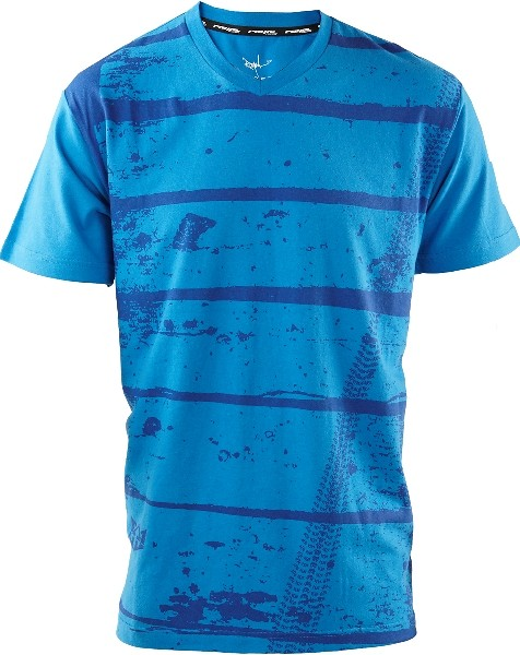 casual tyre track blue tee
