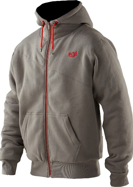 casual grey red hoody