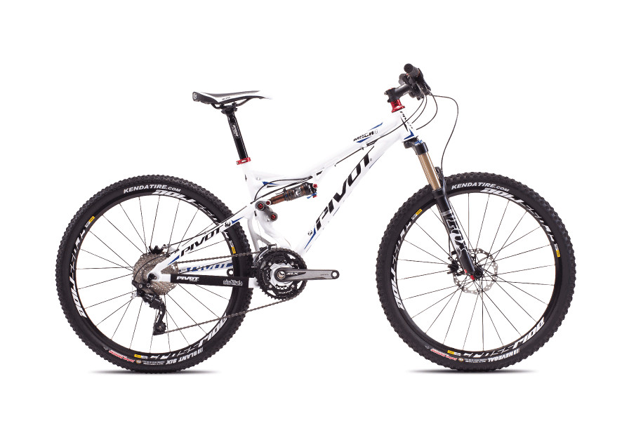 2013 Pivot Mach 4 with XT/SLX  bike - Pivot MACH 4 (white with Shimano SLX:XT)
