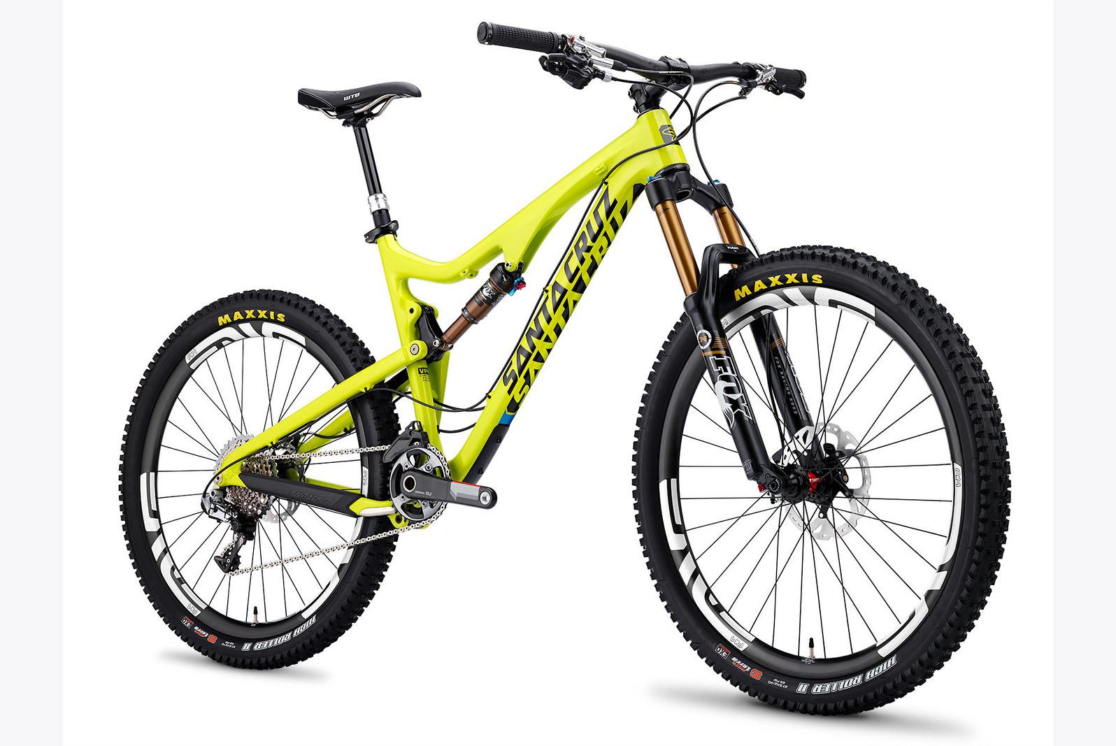 2014 Santa Cruz Bronson Carbon XX1 AM 27.5 Bike yellow-solid-white