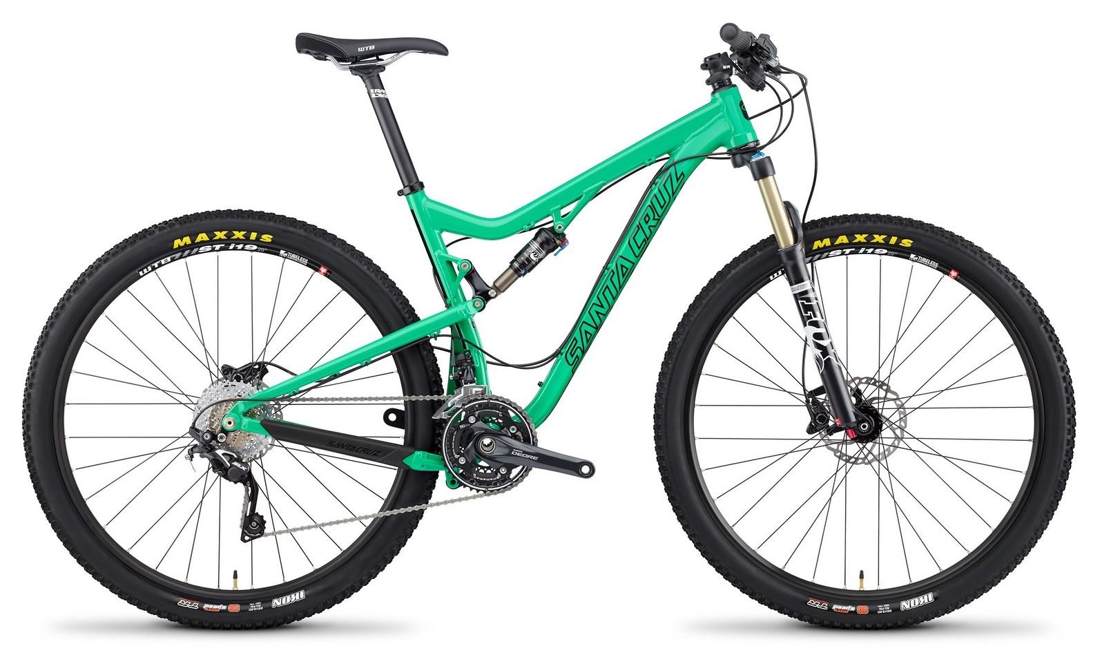 2014 Santa Cruz Tallboy 2 XX1 XC 29 Bike TallBoy_profile_Alum_GRN