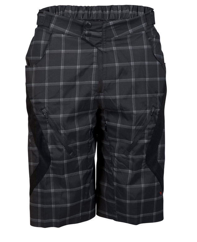 Zoic Antidote Plaid Shorts - Black Square