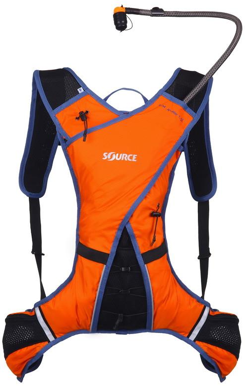 Source DUNE Extreme Sport Hydration Pack Orange Blue