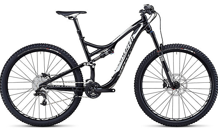 2014 Specialized Stumpjumper FSR Comp EVO 29 Bike - Gloss Black:White