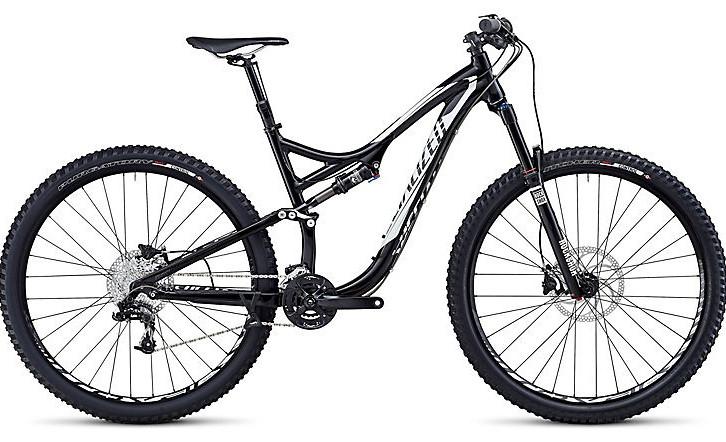 2014 Specialized Stumpjumper FSR Comp EVO 29 Bike - Gloss Black:White