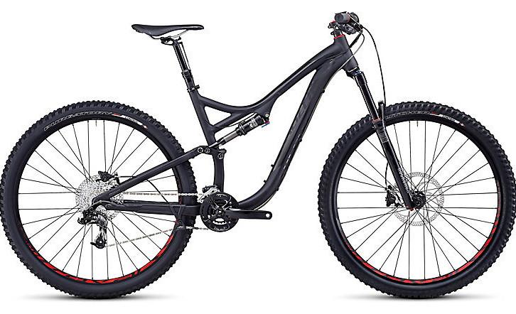 2014 Specialized Stumpjumper FSR Comp EVO 29 Bike - Satin:Gloss Black