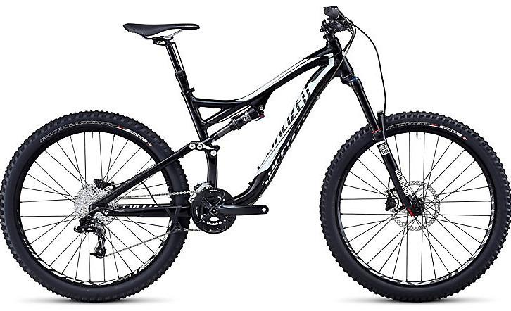 2014 Specialized Stumpjumper FSR Comp EVO Bike - Gloss Black:White