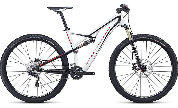2014 Specialized Camber Comp Carbon 29 Bike - Gloss White:Black:Red