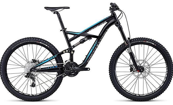 Bike - Specialized Enduro Comp - Gloss Black:Cyan