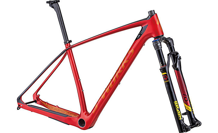 Specialized S-Works Stumpjumper HT Frameset - Gloss Candy Red:Gold