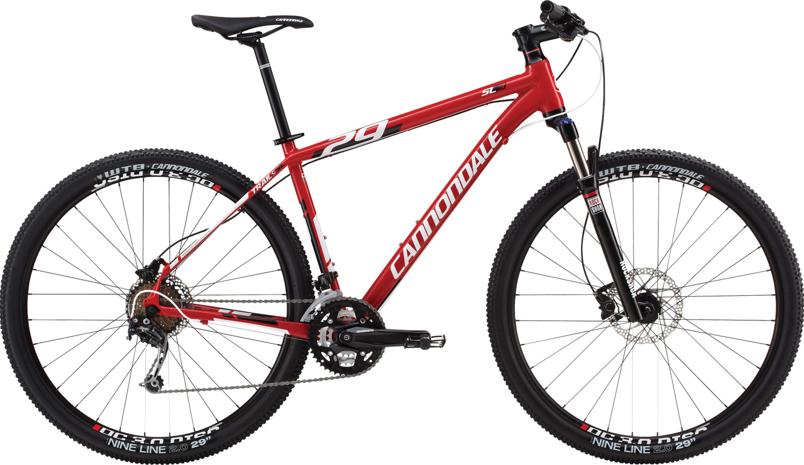 bike - 2014 Cannondale Trail SL 29 3 - red