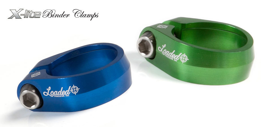 Profile Racing Slim Jim Seatpost Clamp 28.6mm Blue