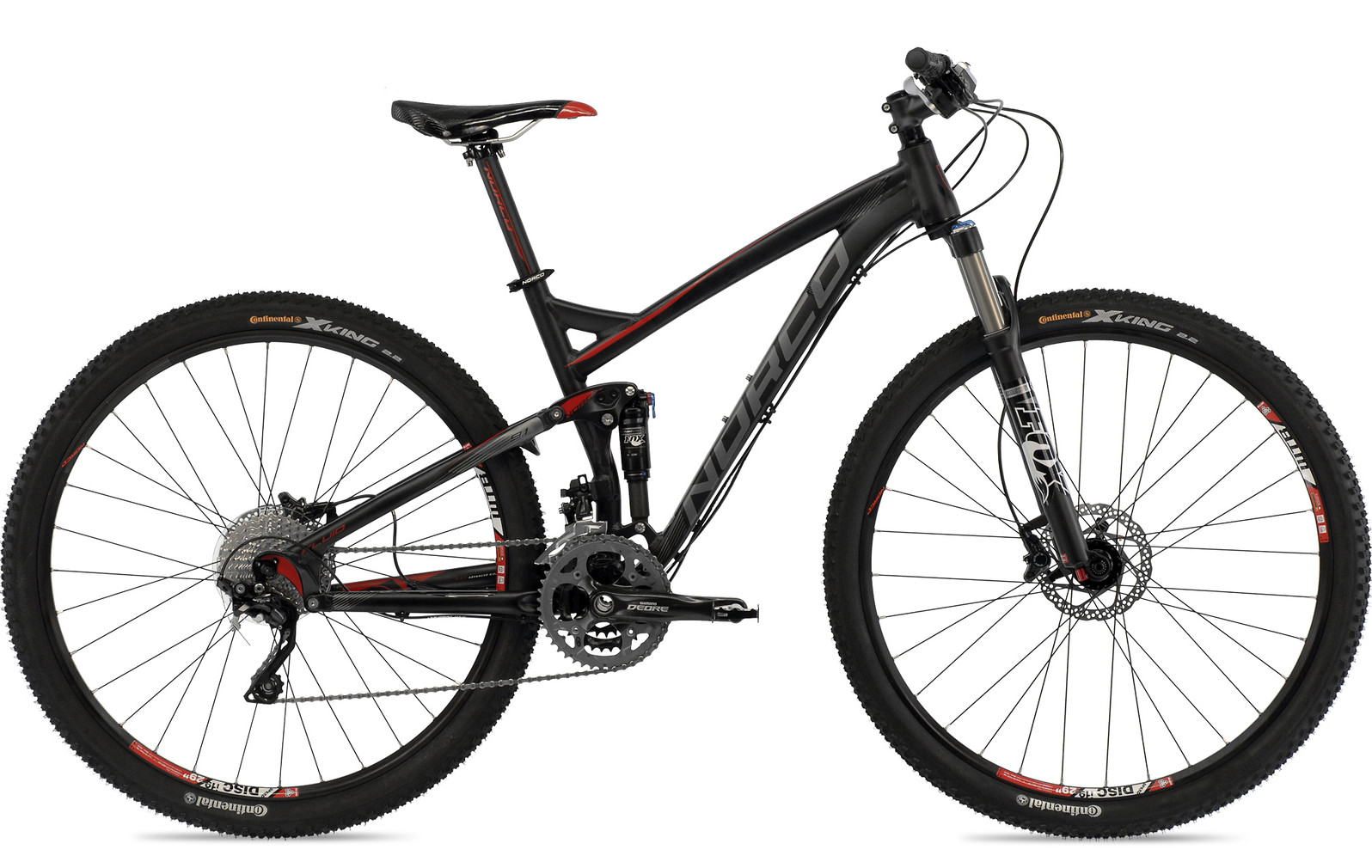 bike - 2014 Norco Fluid 9.1 - black/red