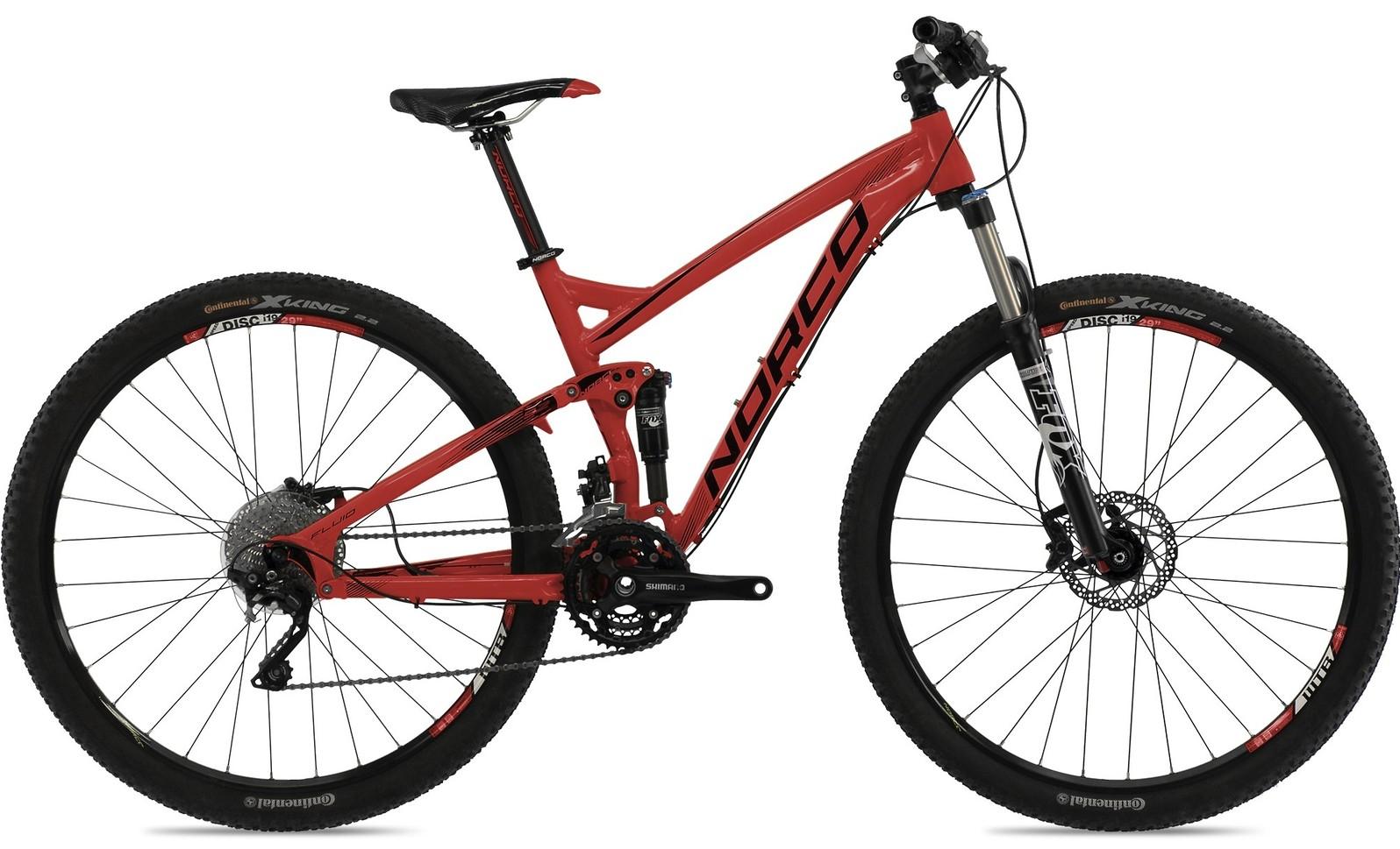 bike - 2014 Norco Fluid 9.2 - red/black