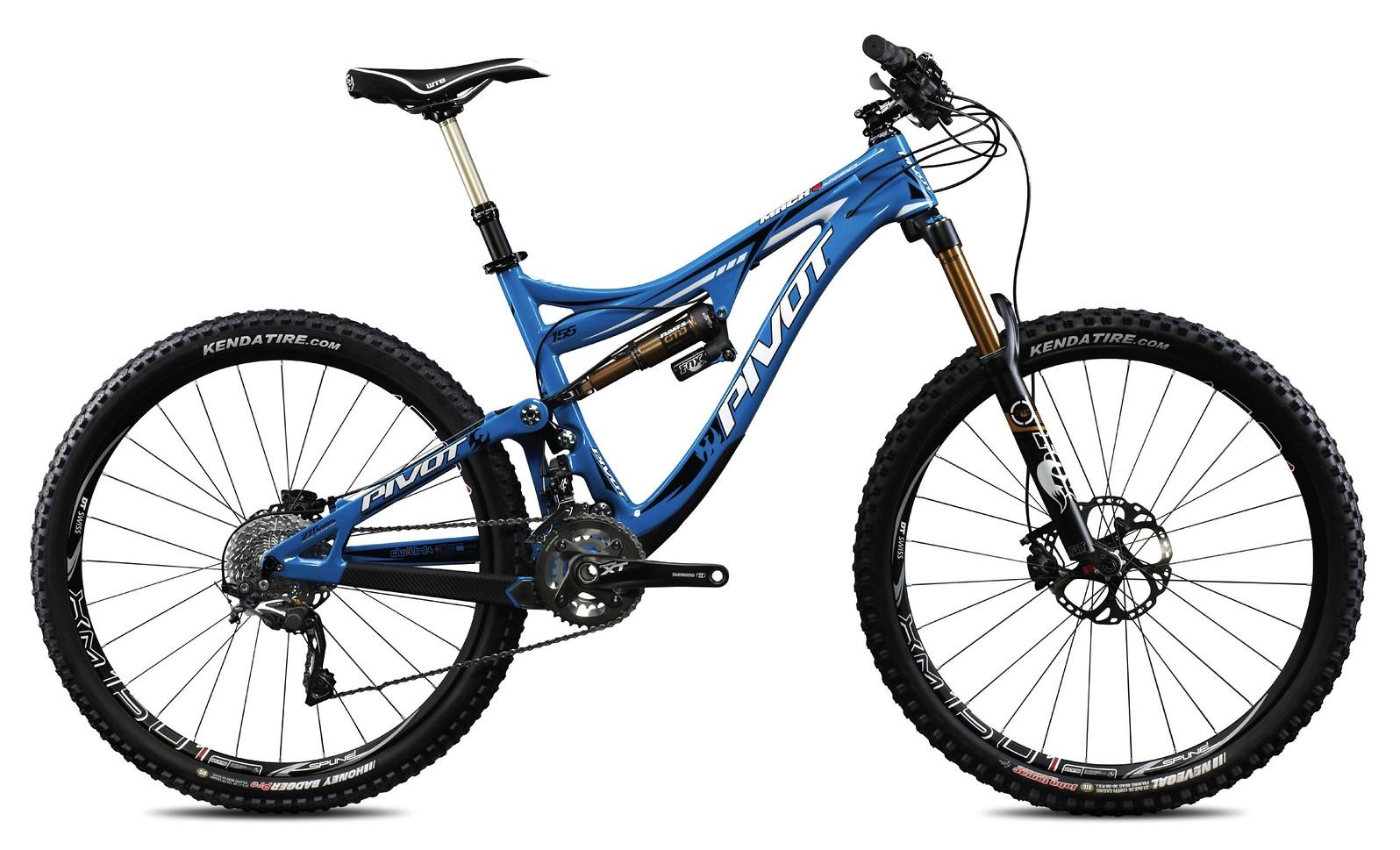 Pivot Mach 6 Carbon Bike - electric blue with Shimano XT:XTR Pro Build