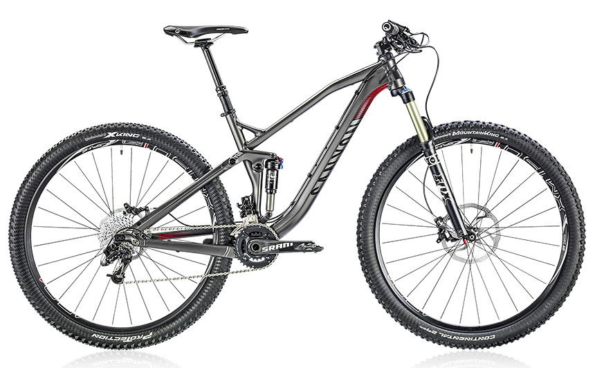 2014 Canyon Spectral AL 8.9 - meteor grey:red