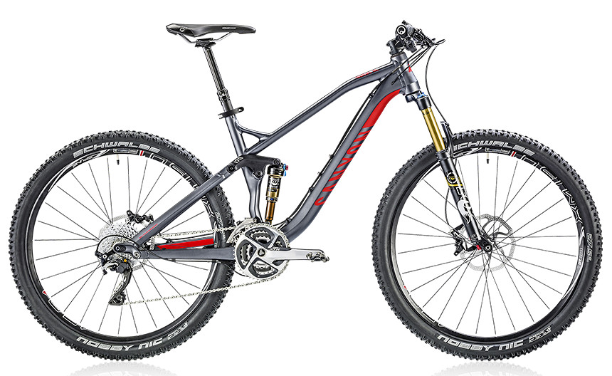 2014 Canyon Nerve AL 9.0 SL - meteor grey :red